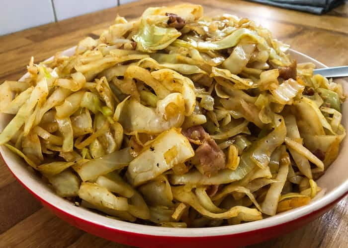 Super Easy Southern Style Fried Cabbage w/Bacon & Video 2