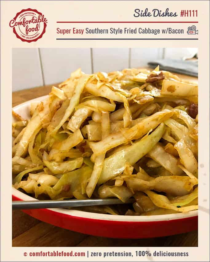 Super Easy Southern Style Fried Cabbage w/Bacon & Video 1